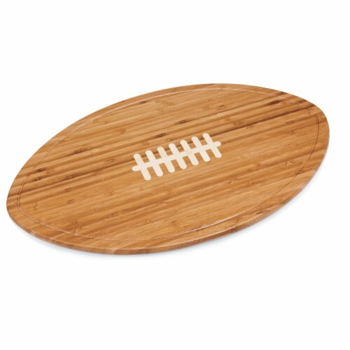 Kickoff Football Cutting Board & Serving Tray, Bamboo Perspective: back