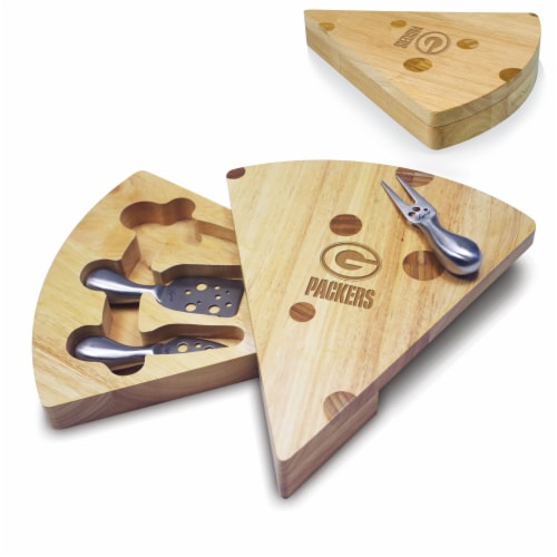 Green Bay Packers - Swiss Cheese Cutting Board & Tools Set Perspective: back