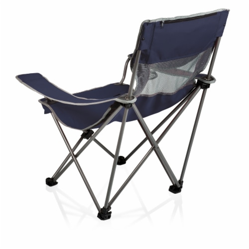Campsite Camp Chair, Navy Blue with Gray Accents Perspective: back