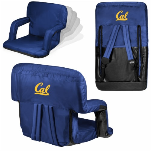 Cal Bears Ventura Portable Reclining Stadium Seat - Navy Perspective: back