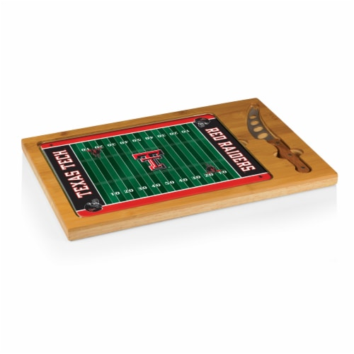Texas Tech Red Raiders - Icon Glass Top Cutting Board & Knife Set Perspective: back