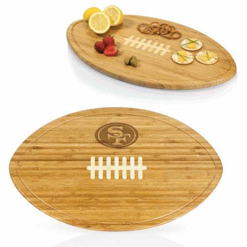 San Francisco 49ers - Kickoff Football Cutting Board & Serving Tray Perspective: back