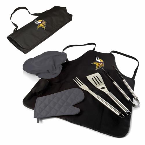 Minnesota Vikings - BBQ Apron Tote Pro Grill Set Perspective: back