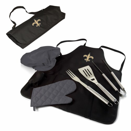 New Orleans Saints - BBQ Apron Tote Pro Grill Set Perspective: back