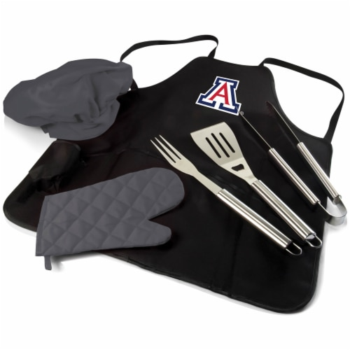 Arizona Wildcats BBQ Apron Tote Pro Set with Tools Perspective: back