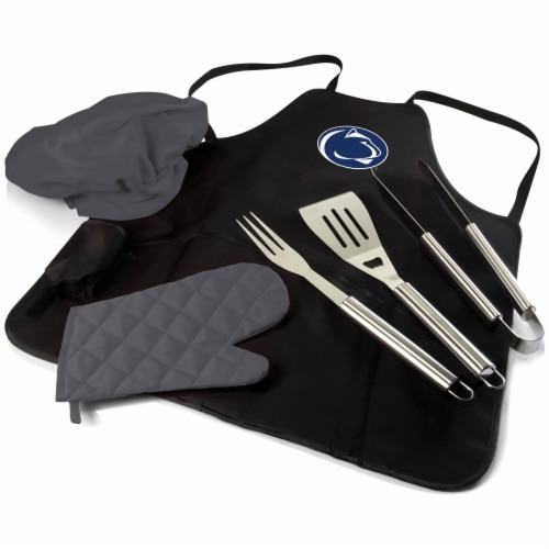 Penn State Nittany Lions BBQ Apron Tote Pro Set with Tools Perspective: back