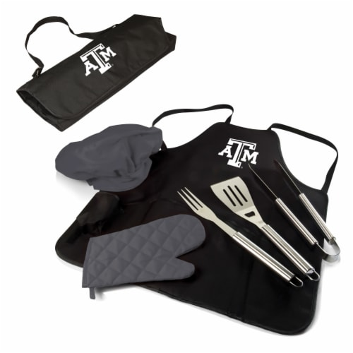 Texas A&M Aggies - BBQ Apron Tote Pro Grill Set Perspective: back