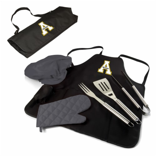 App State Mountaineers - BBQ Apron Tote Pro Grill Set Perspective: back