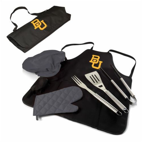 Baylor Bears - BBQ Apron Tote Pro Grill Set Perspective: back