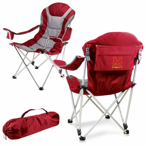 Maryland Terrapins - Reclining Camp Chair Perspective: back