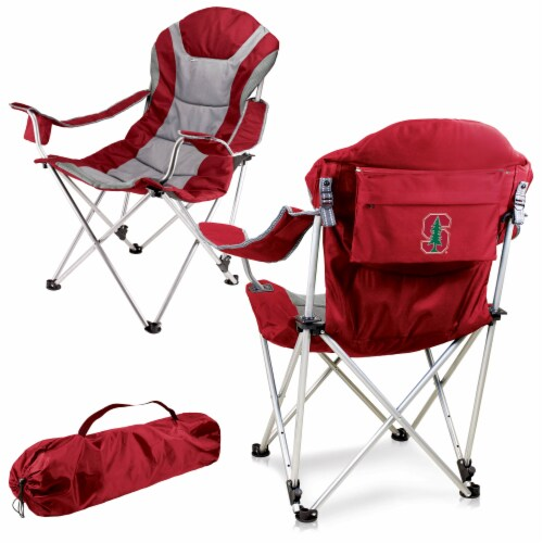Stanford Cardinal - Reclining Camp Chair Perspective: back
