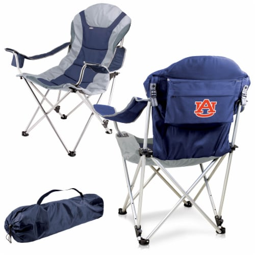 Auburn Tigers - Reclining Camp Chair Perspective: back