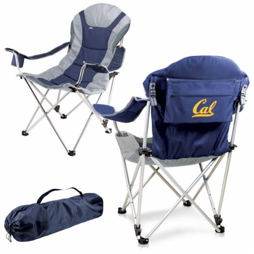 Cal Bears - Reclining Camp Chair Perspective: back