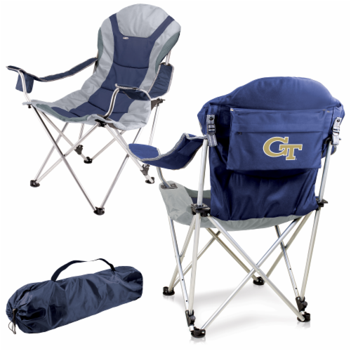 Georgia Tech Yellow Jackets - Reclining Camp Chair Perspective: back