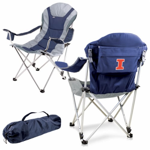 Illinois Fighting Illini - Reclining Camp Chair Perspective: back