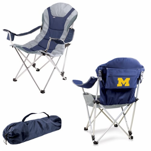 Michigan Wolverines - Reclining Camp Chair Perspective: back