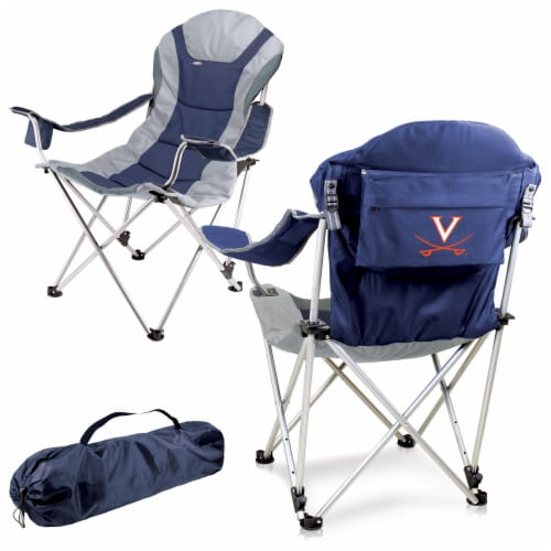 Virginia Cavaliers - Reclining Camp Chair Perspective: back