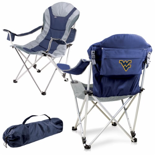 West Virginia Mountaineers - Reclining Camp Chair Perspective: back