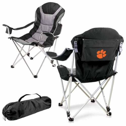 Clemson Tigers - Reclining Camp Chair Perspective: back