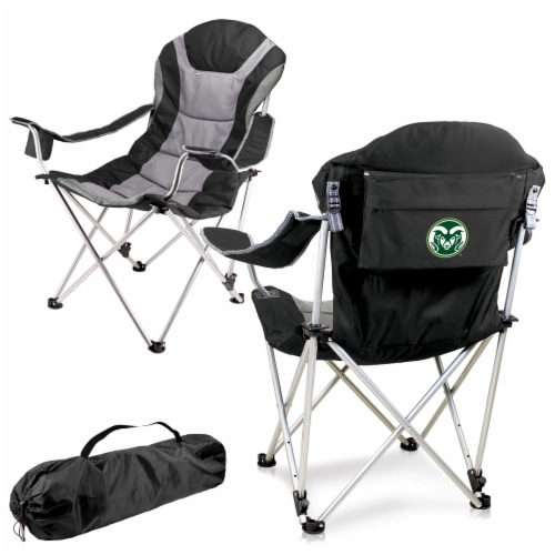 Colorado State Rams - Reclining Camp Chair Perspective: back