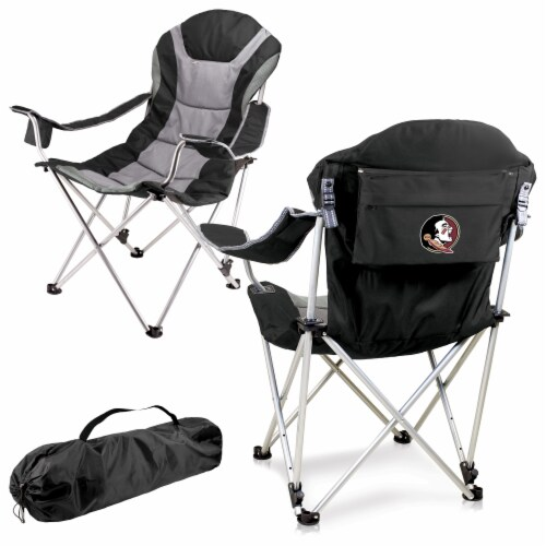Florida State Seminoles - Reclining Camp Chair Perspective: back