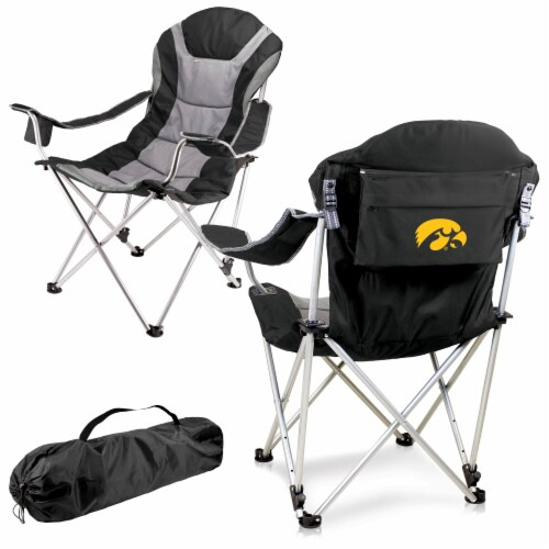 Iowa Hawkeyes - Reclining Camp Chair Perspective: back