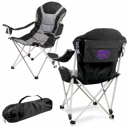 Kansas State Wildcats - Reclining Camp Chair Perspective: back