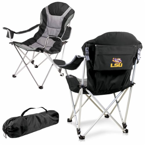 LSU Tigers - Reclining Camp Chair Perspective: back