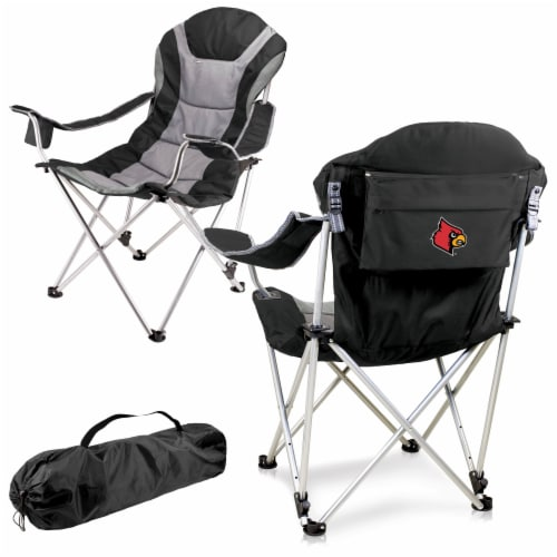 Louisville Cardinals - Reclining Camp Chair Perspective: back