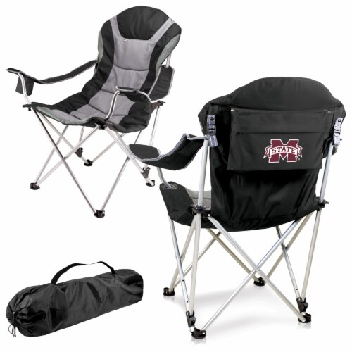Mississippi State Bulldogs - Reclining Camp Chair Perspective: back