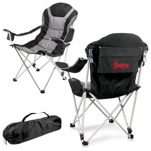 Nebraska Cornhuskers - Reclining Camp Chair Perspective: back