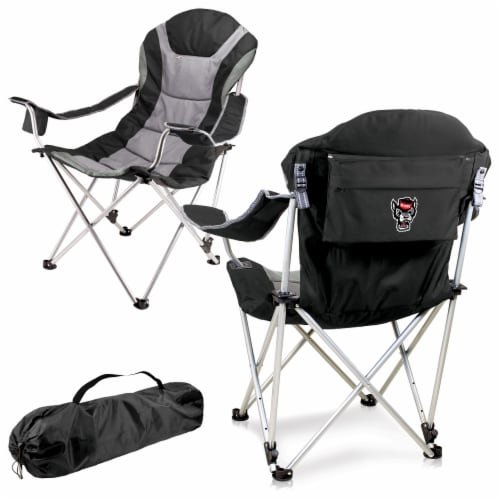NC State Wolfpack - Reclining Camp Chair Perspective: back