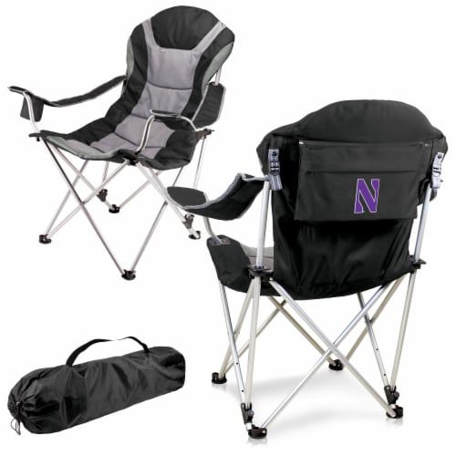 Northwestern Wildcats - Reclining Camp Chair Perspective: back
