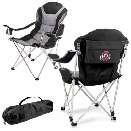Ohio State Buckeyes - Reclining Camp Chair Perspective: back