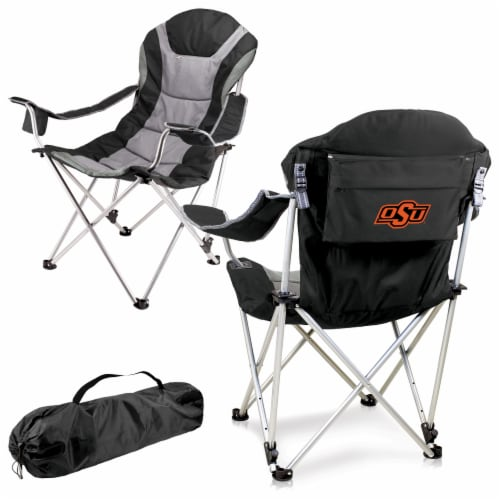 Oklahoma State Cowboys - Reclining Camp Chair Perspective: back