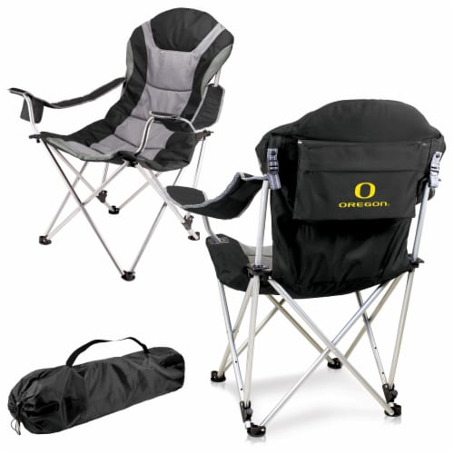 Oregon Ducks - Reclining Camp Chair Perspective: back