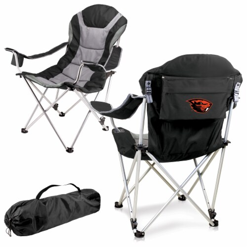 Oregon State Beavers - Reclining Camp Chair Perspective: back