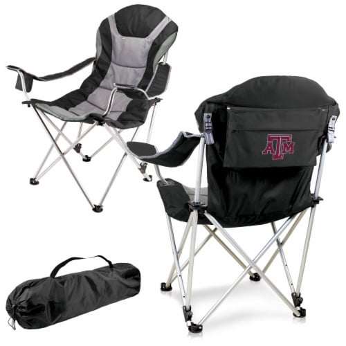 Texas A&M Aggies - Reclining Camp Chair Perspective: back