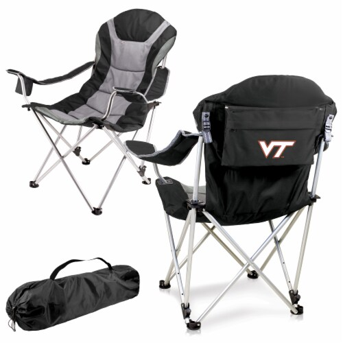 Virginia Tech Hokies - Reclining Camp Chair Perspective: back