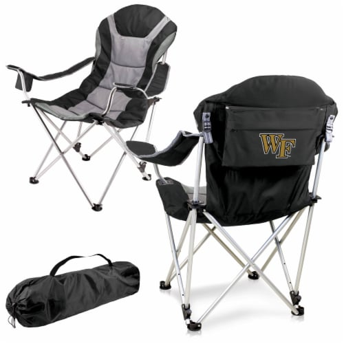 Wake Forest Demon Deacons - Reclining Camp Chair Perspective: back