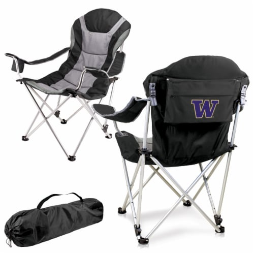 Washington Huskies - Reclining Camp Chair Perspective: back