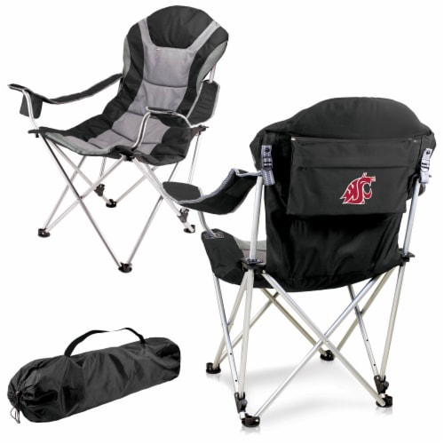 Washington State Cougars - Reclining Camp Chair Perspective: back