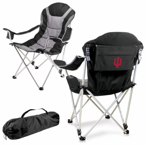Indiana Hoosiers - Reclining Camp Chair Perspective: back