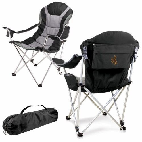 Wyoming Cowboys - Reclining Camp Chair Perspective: back