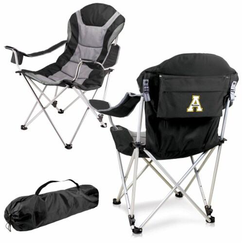 App State Mountaineers - Reclining Camp Chair Perspective: back