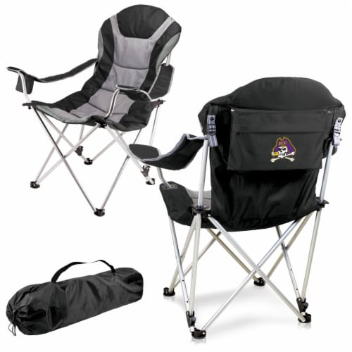 East Carolina Pirates - Reclining Camp Chair Perspective: back