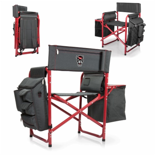 NC State Wolfpack - Fusion Backpack Chair with Cooler Perspective: back