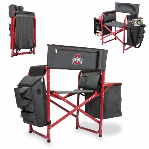Ohio State Buckeyes - Fusion Backpack Chair with Cooler Perspective: back