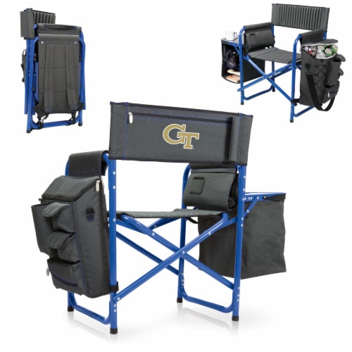 Georgia Tech Yellow Jackets - Fusion Backpack Chair with Cooler Perspective: back