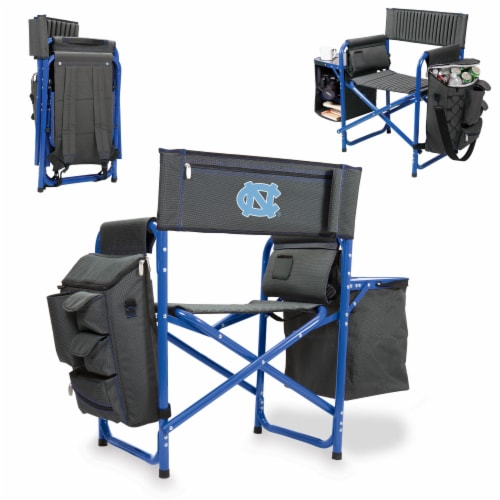 North Carolina Tar Heels - Fusion Backpack Chair with Cooler Perspective: back